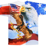 Load image into Gallery viewer, Bald Eagle America Flies Free Mens T-Shirt - The Flag Shirt