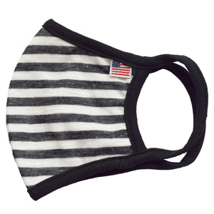 USA Flag Black Stripe Face Mask