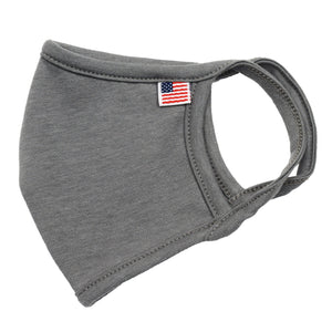 USA Flag Solid Face Mask Stone Gray