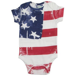 Hand Painted American Flag Onesie - The Flag Shirt