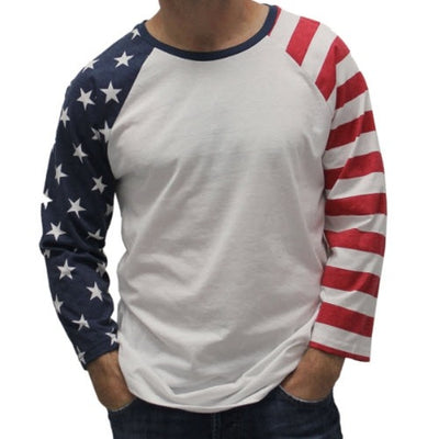 Mens Long Sleeve USA Themed T-Shirts