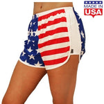 Load image into Gallery viewer, Womens American Flag Running Shorts - The Flag Shirt