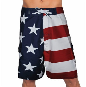 Mens American Flag Board Shorts - The Flag Shirt