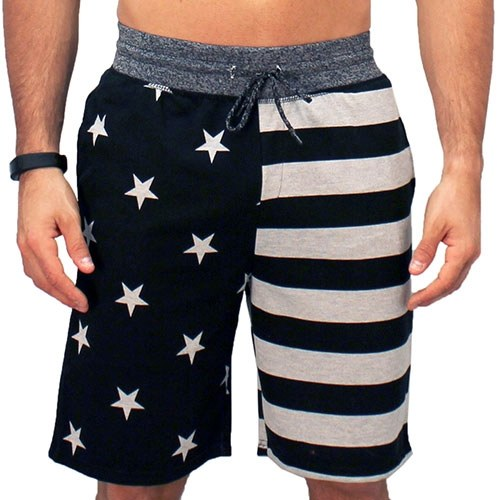 Mens American Stars and Stripes Jogger Shorts - The Flag Shirt