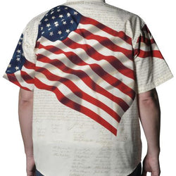 Woven Benji American Flag Mens Shirt - The Flag Shirt