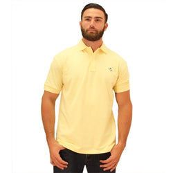 Biscayne Bay Embroidered Mens Polo Banana - The Flag Shirt