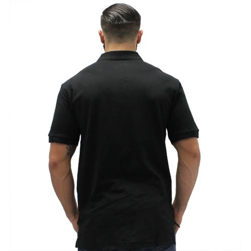 Biscayne Bay Embroidered Mens Polo Black - The Flag Shirt