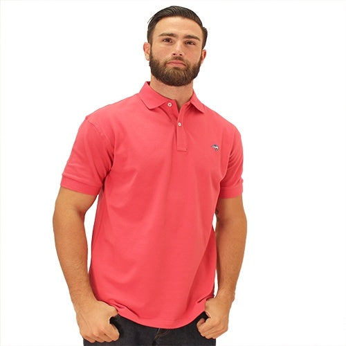 Biscayne Bay Embroidered Mens Polo Guava - The Flag Shirt