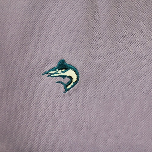 Biscayne Bay Embroidered Mens Polo Lilac - The Flag Shirt