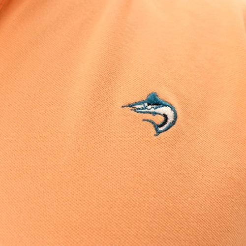 Biscayne Bay Embroidered Mens Polo Mango - The Flag Shirt