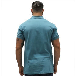 Biscayne Bay Embroidered Mens Polo Teal - The Flag Shirt