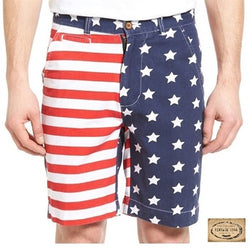 Mens American Flag washed shorts - The Flag Shirt