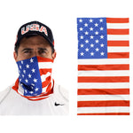 Load image into Gallery viewer, Cloth Gaiter Scarf with American Flag - the flag shirt