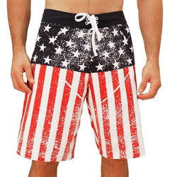 Worn American Flag Board Shorts - The Flag Shirt