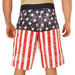 Load image into Gallery viewer, Worn American Flag Board Shorts - The Flag Shirt