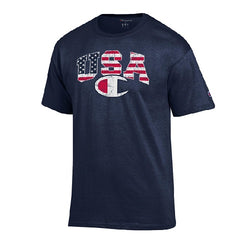 Champion Mens USA Flag  Athletic Shirt - The Flag Shirt