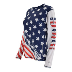 USA Sublimation Lady Long Sleeve Rash Guard