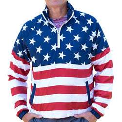 Mens American Flag Pullover