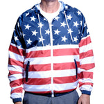 Load image into Gallery viewer, Mens Full Zipper Patriotic Hoodie Jacket