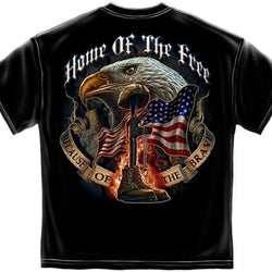 Home of the Free Because of the Brave Mens T-Shirt - The Flag Shirt