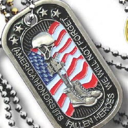 EAG-Fallen Heroes Metal Dog Tag - 2500 - The Flag Shirt