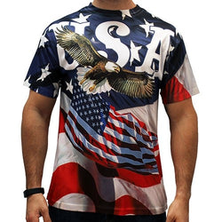 USA Eagle Liberty American Flag T-Shirt - The Flag Shirt