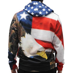 Eagle with Flag Sublimated Hoodie - The Flag Shirt