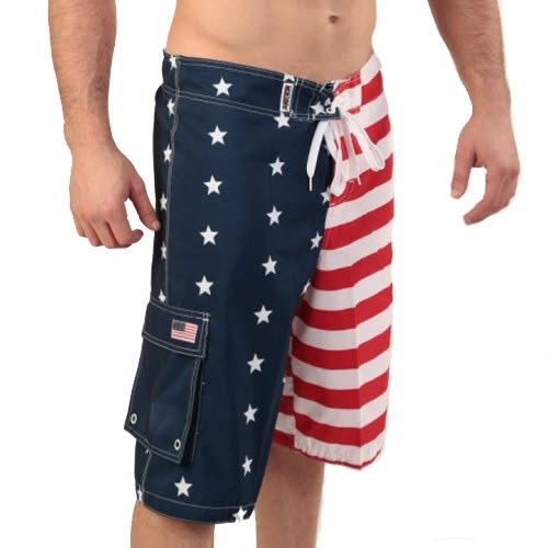 Mens American Flag Stars and Stripes Board Shorts - The Flag Shirt