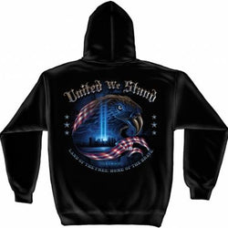 Commemorative 9-11 United We Stand Mens Hooded Sweatshirt - FF2067 - The Flag Shirt