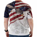 Load image into Gallery viewer, Constitution with Soaring Eagle Mens USA Sublimation Tee - theflagshirt