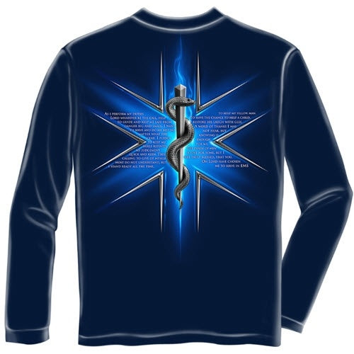 EMS Prayer Mens Long Sleeve T-Shirt - The Flag Shirt