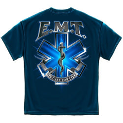 On Call for Life EMT Mens T-Shirt - The Flag Shirt