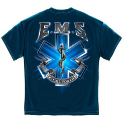 On Call for Life EMS Mens T-Shirt - The Flag Shirt