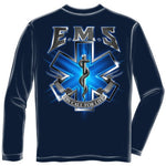 Load image into Gallery viewer, On Call for Life EMS Mens Long Sleeve T-Shirt - The Flag Shirt
