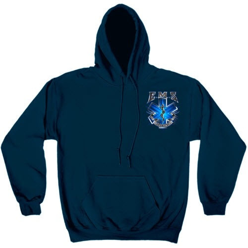 On Call for Life EMS Mens Hooded Sweatshirt - The Flag Shirt