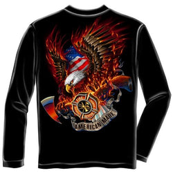 American Made Firefighter Mens Long Sleeve T-Shirt
