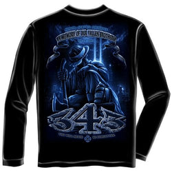 343 Never Forget Mens Long Sleeve T-Shirt - The Flag Shirt