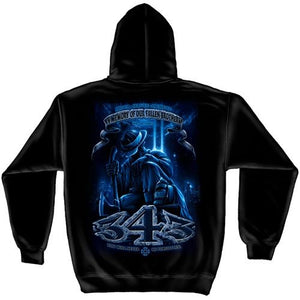 343 Never Forget Mens Hooded Sweatshirt - The Flag Shirt