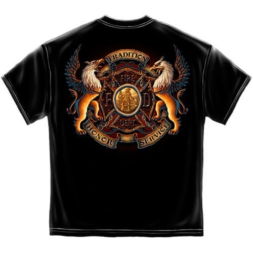 COA Firefighter Mens T-Shirt - The Flag Shirt