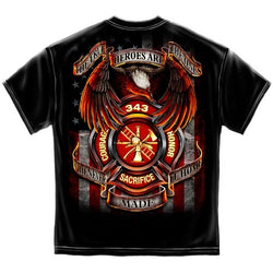 343 Fallen Heroes Mens T-Shirt - The Flag Shirt