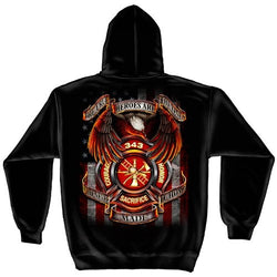 343 Fallen Heroes Mens Hooded Sweatshirt - The Flag Shirt