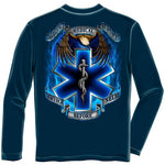 Load image into Gallery viewer, Heroes EMS Mens Long Sleeve T-Shirt - The Flag Shirt
