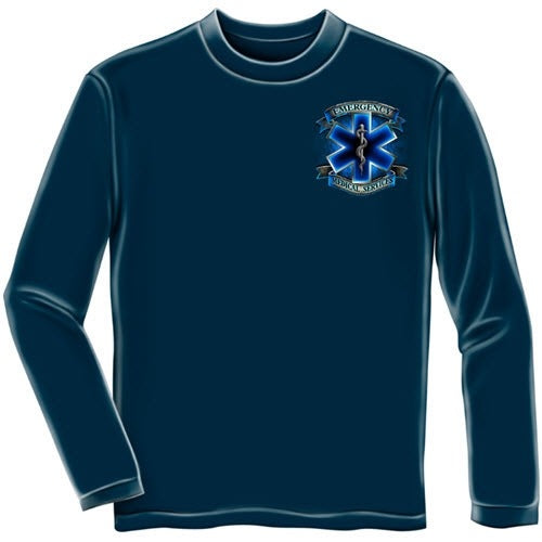 Heroes EMS Mens Long Sleeve T-Shirt - The Flag Shirt