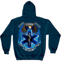 Heroes EMS Mens Hooded Sweatshirt - The Flag Shirt