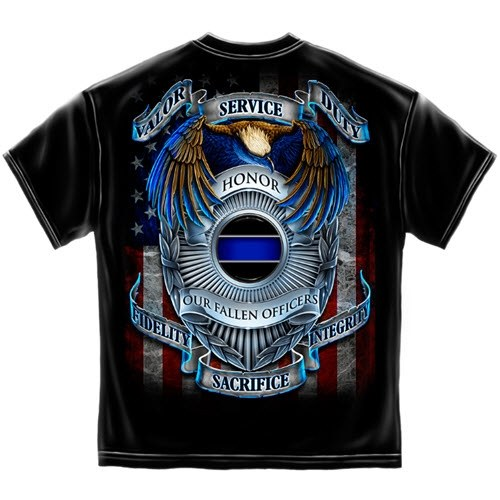 Honor Our Fallen Officers Mens T-Shirt - The Flag Shirt