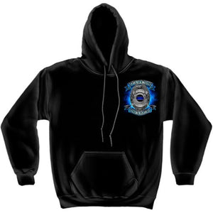 Honor Our Fallen Officers Mens Hooded Sweatshirt - The Flag Shirt