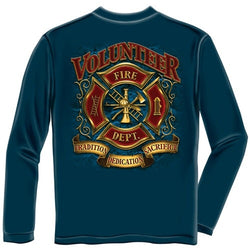 Volunteer Firefighter Mens Long Sleeve T-Shirt