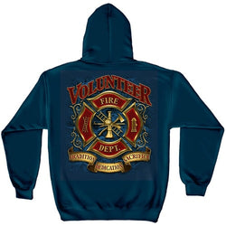Volunteer Firefighter Mens Hoodie