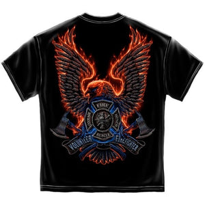 Volunteer Fire Eagle Mens T-Shirt - The Flag Shirt