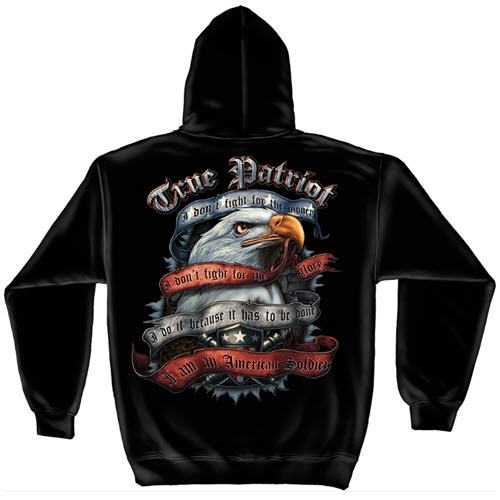 Patriotic True Patriot Mens Hooded Sweatshirt - The Flag Shirt